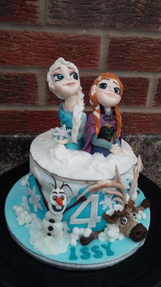 Elsa and Anna Topper Frozen cake