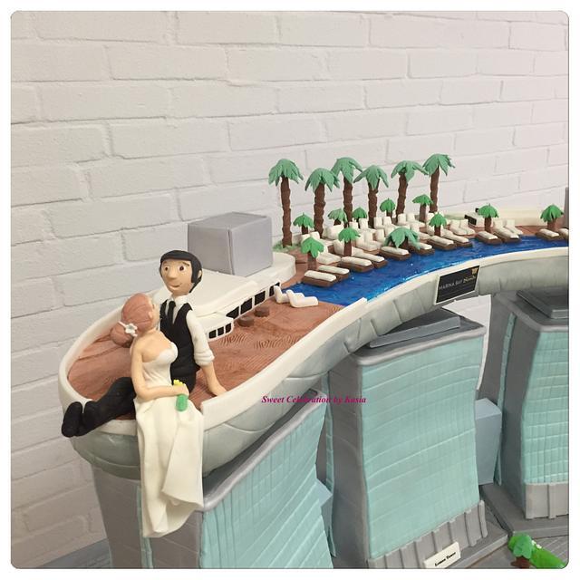 Marina Bay Sands Singapore wedding cake