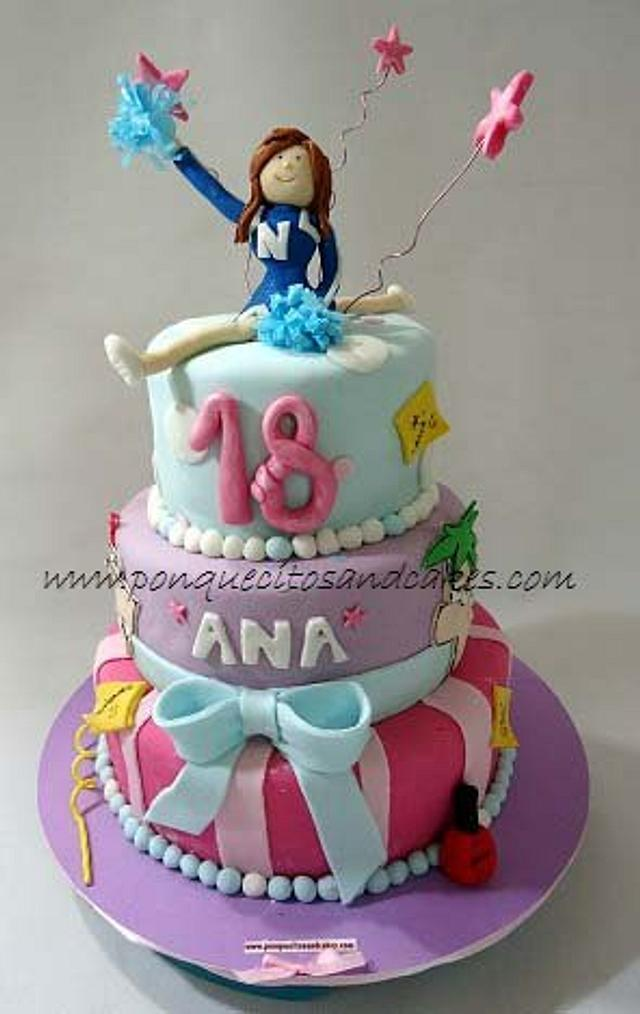 Pleasing Cheerleader Cake Cake By Marielly Parra Cakesdecor Funny Birthday Cards Online Fluifree Goldxyz