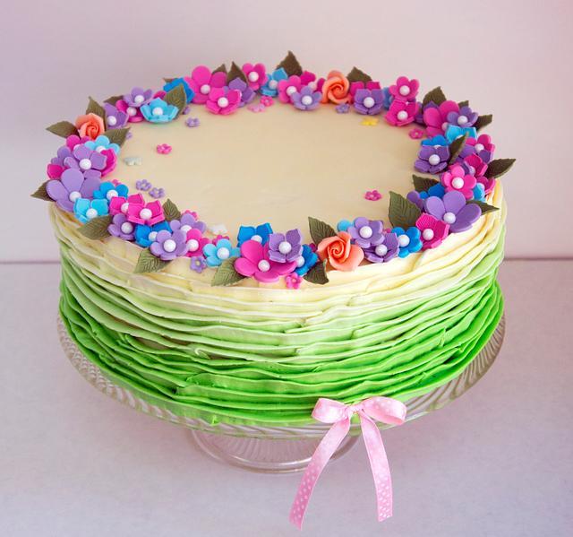Cake for my grandma's 75th birthday
