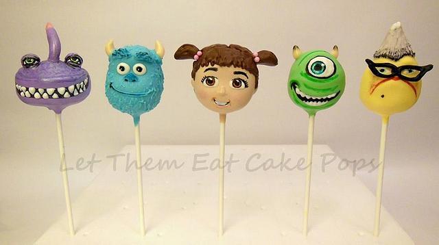 Monsters Inc. Cake Pops
