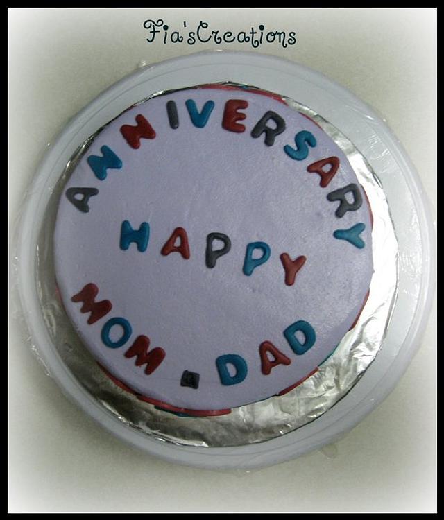 MOM & DAD Anniversary Cake