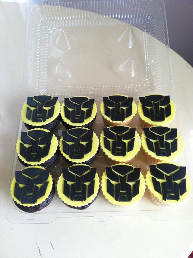 Bumblebee Transformer Cupcakes