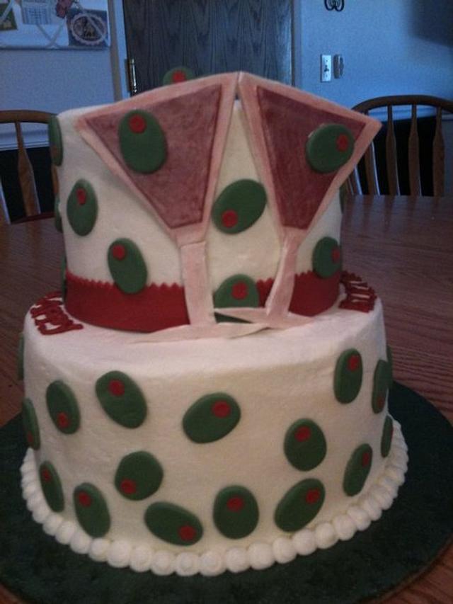 Martini Birthday Cake