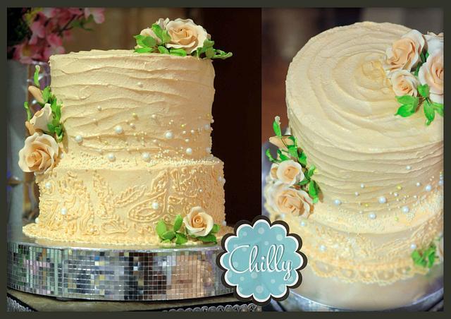Peach Theme cake
