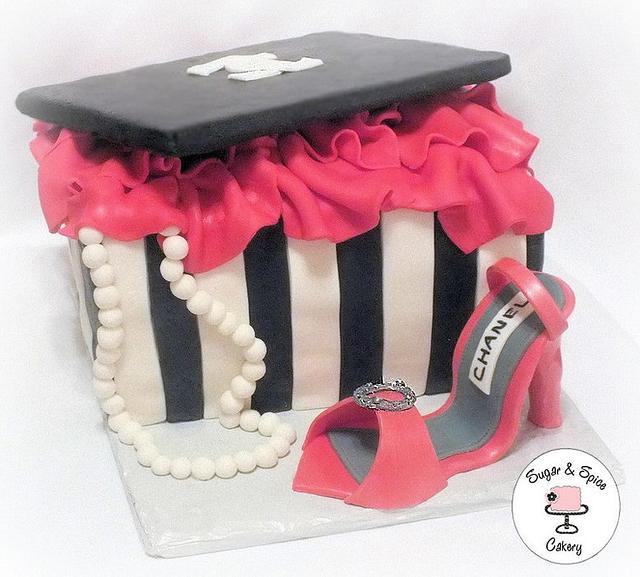 Chanel Shoe Box Cake