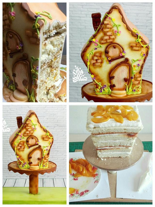 Fairy tale house cake