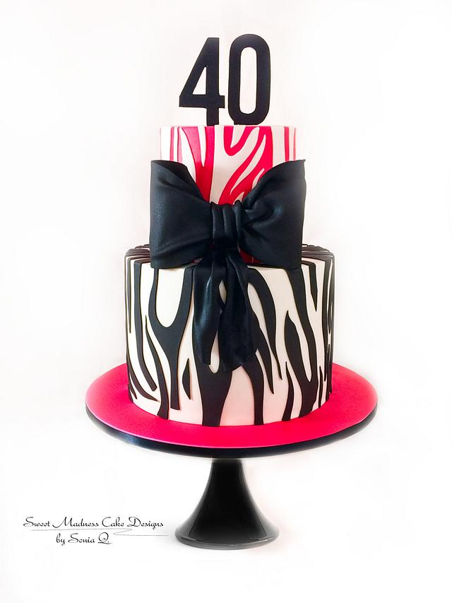Zebra Pattern with over-sized Bow