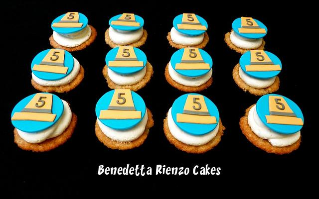 Construction Cone Cupcakes