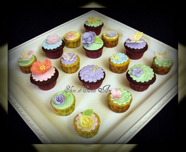 Spring Time Mini Cupcakes