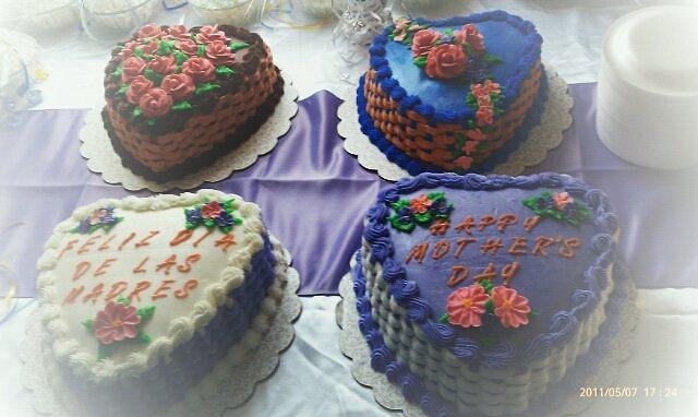 basket weave cakes