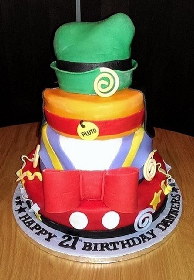 Astounding 21St Disney Birthday Cake Cake By Sarahs Crafty Cakes Cakesdecor Personalised Birthday Cards Rectzonderlifede
