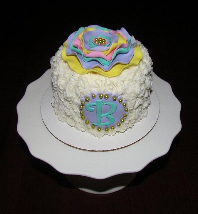 Ribbon Flower Cake