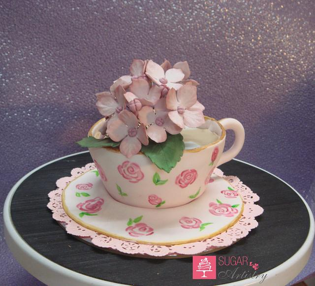A Cup of Tea with flowers