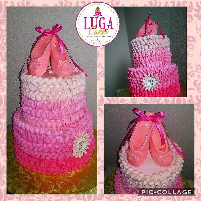 It's a girl ballerina cake