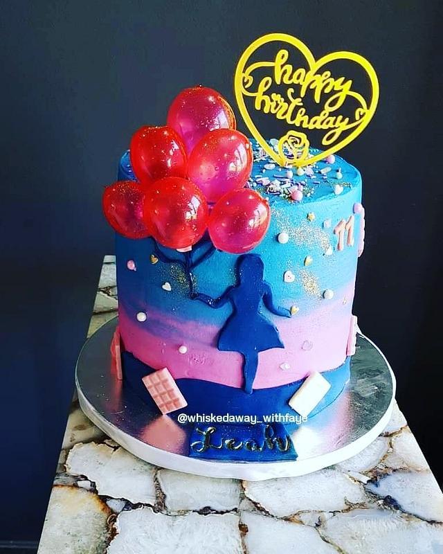 Girl Silhouette Cake
