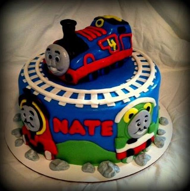 Awesome Thomas The Train Birthday Cake Cake By Angel Rushing Cakesdecor Funny Birthday Cards Online Eattedamsfinfo