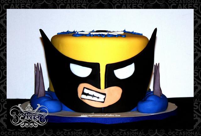 Remarkable Wolverine Cake By Occasional Cakes Cakesdecor Personalised Birthday Cards Veneteletsinfo