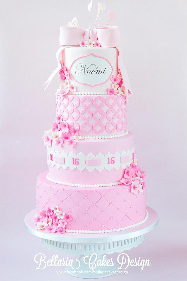 Excellent Pink Sweet Sixteen Birthday Cake Cake By Bellaria Cake Cakesdecor Funny Birthday Cards Online Alyptdamsfinfo