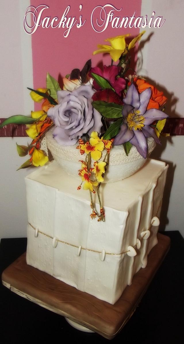 Composizione fiori di zucchero