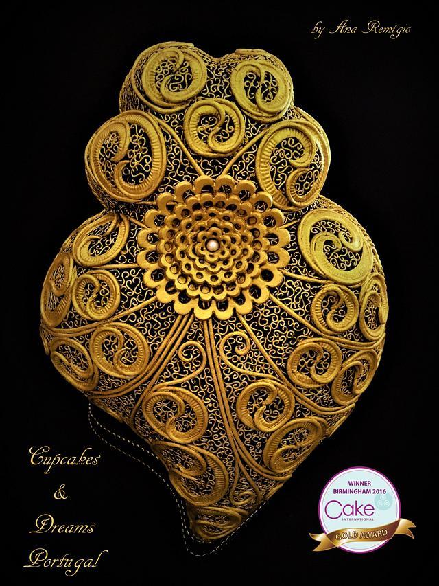 Cake International Birmingham 2016 HEART OF VIANA FILIGREE - Gold Medal