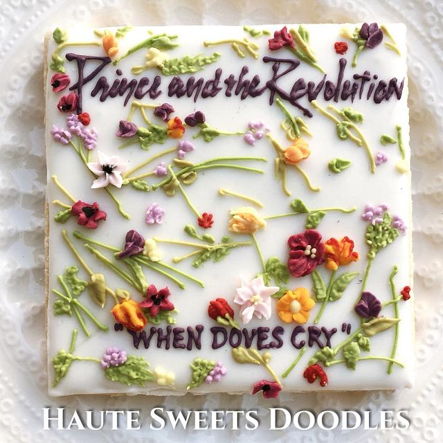 """""""When Doves Cry"""" cookie set for The Power of Music Cake Collaboration"""
