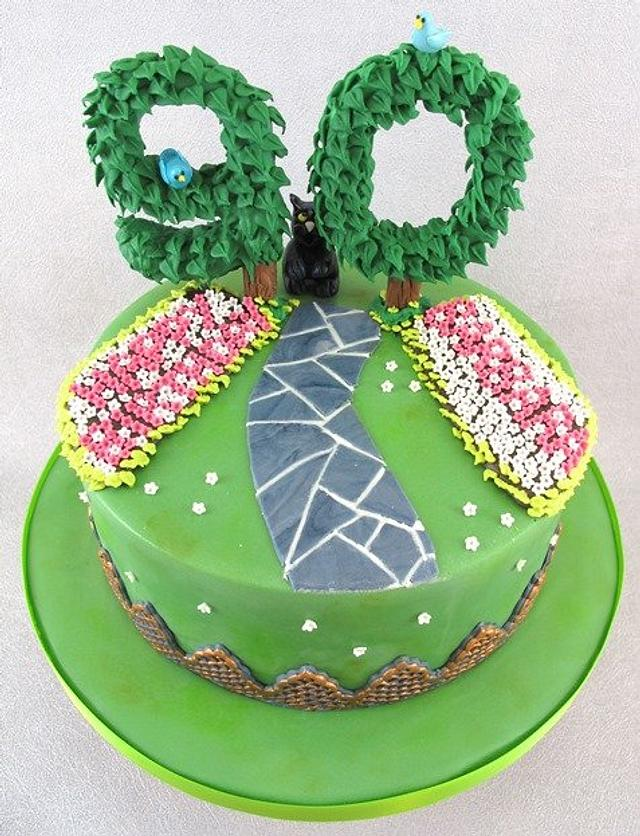 90th Birthday Garden Cake