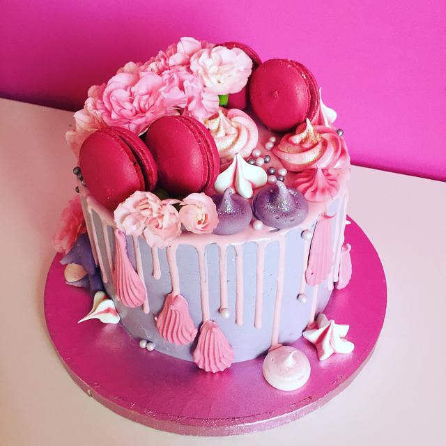 Carnations and macarons