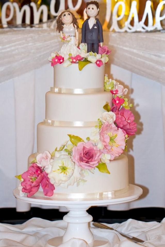 My second ever wedding cake