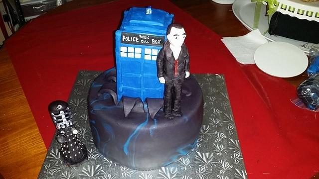 Outstanding Doctor Who Birthday Cake Cake By Melissa Cakesdecor Funny Birthday Cards Online Alyptdamsfinfo
