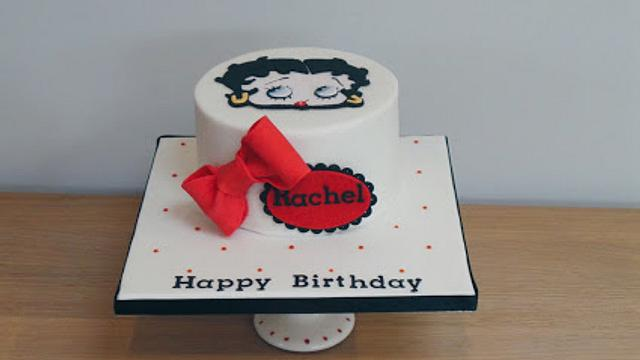 Incredible Betty Boop Birthday Cake Cake By The Old Manor House Cakesdecor Birthday Cards Printable Opercafe Filternl