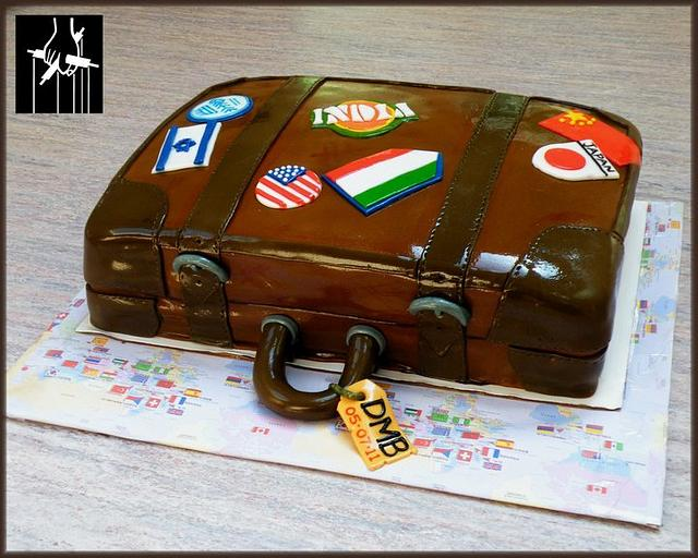 AROUND THE WORLD IN A DAY CAKE