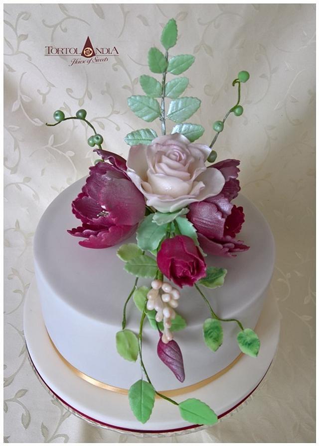 60th  birthday & flower bouquet