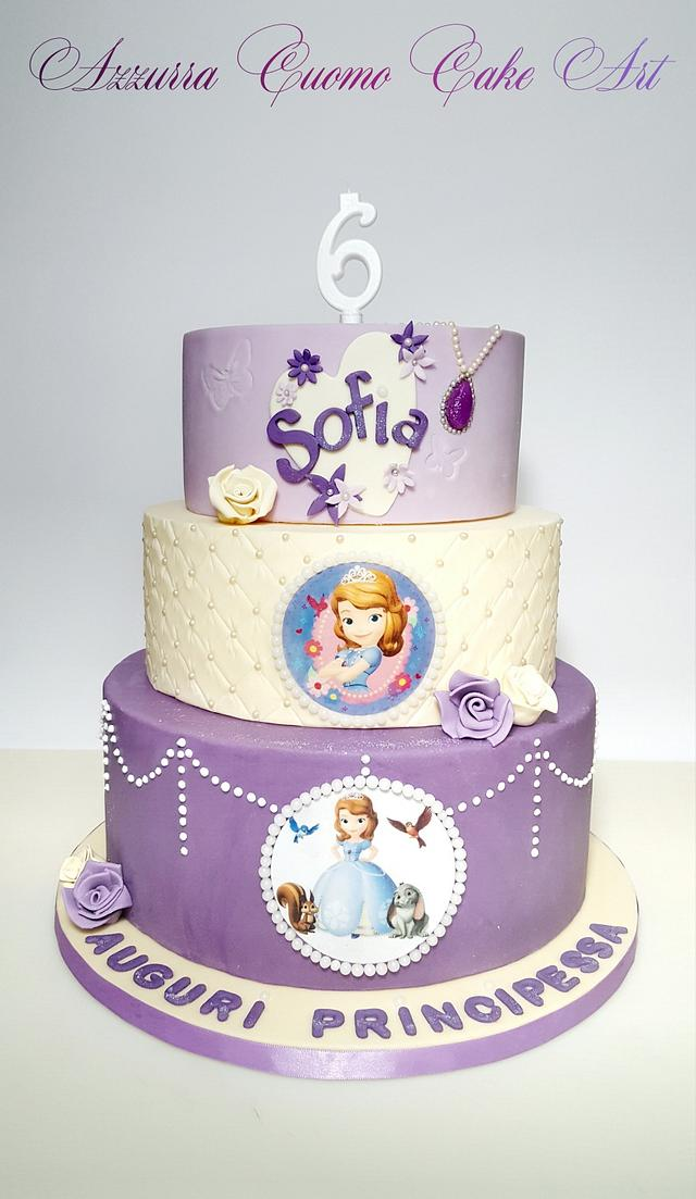 Admirable Sofia The First Birthday Cake For Sofia Cake By Cakesdecor Personalised Birthday Cards Paralily Jamesorg