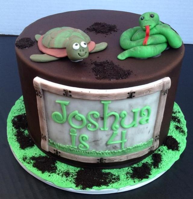 Wondrous Reptile Birthday Cake Cake By The Ruffled Crumb Cakesdecor Personalised Birthday Cards Xaembasilily Jamesorg