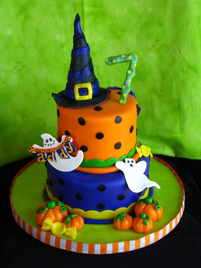 Fantastic Halloween Birthday Cake Cake By Sweetpeacakemom Cakesdecor Funny Birthday Cards Online Barepcheapnameinfo