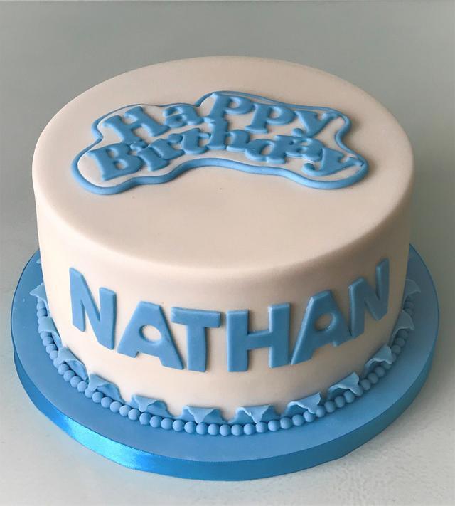 Remarkable Simple Birthday Cake Cake By Lorraine Yarnold Cakesdecor Personalised Birthday Cards Veneteletsinfo