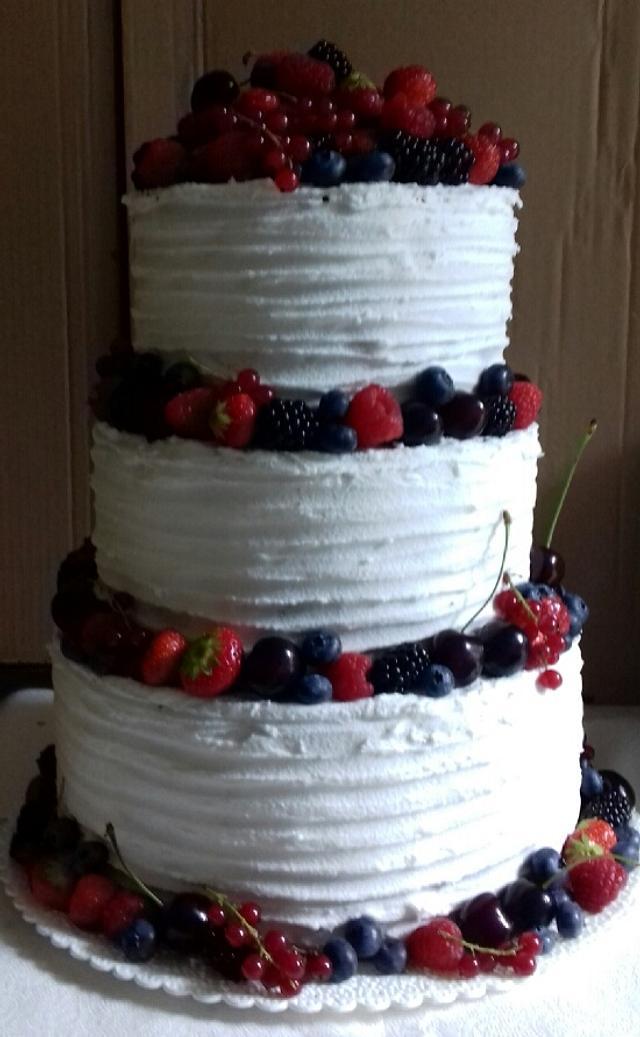 Fruit and white wedding