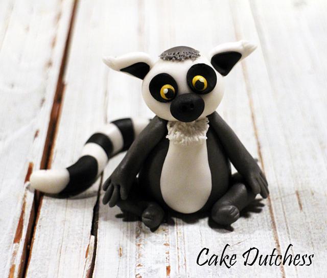 Ring Tailed Lemur Cake Topper