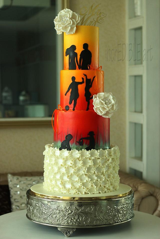 """Vibrant Life""-Wedding Cake"