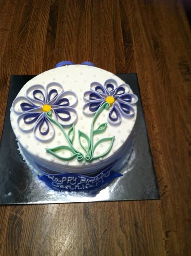 First quilled cake