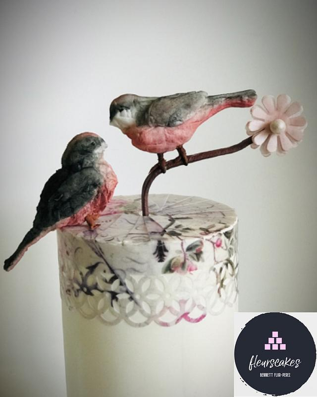Amor… a wedding cake with wafer paper techniques