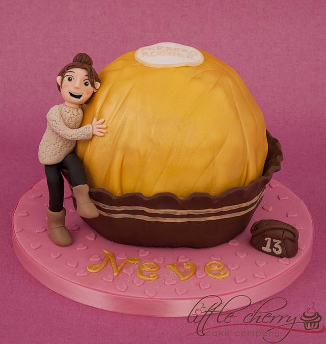 Big Ferrero Rocher Cake