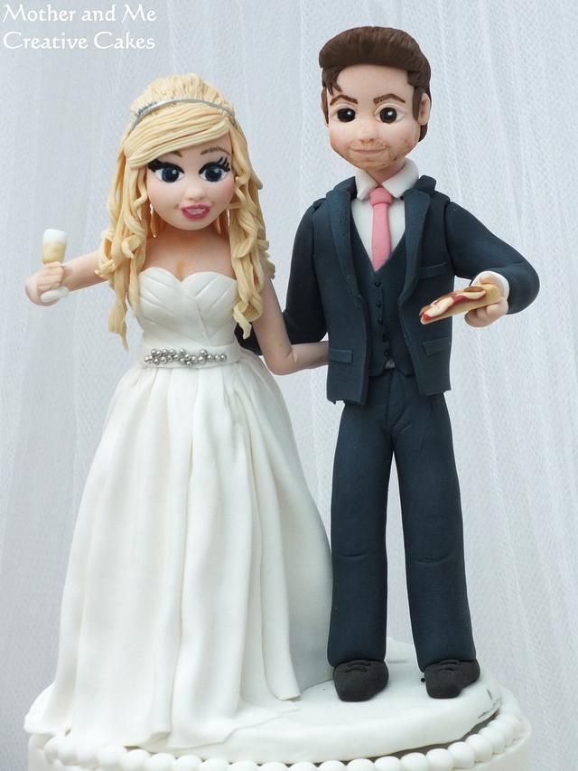 Two sided Wedding Cake/ Reveal Cake