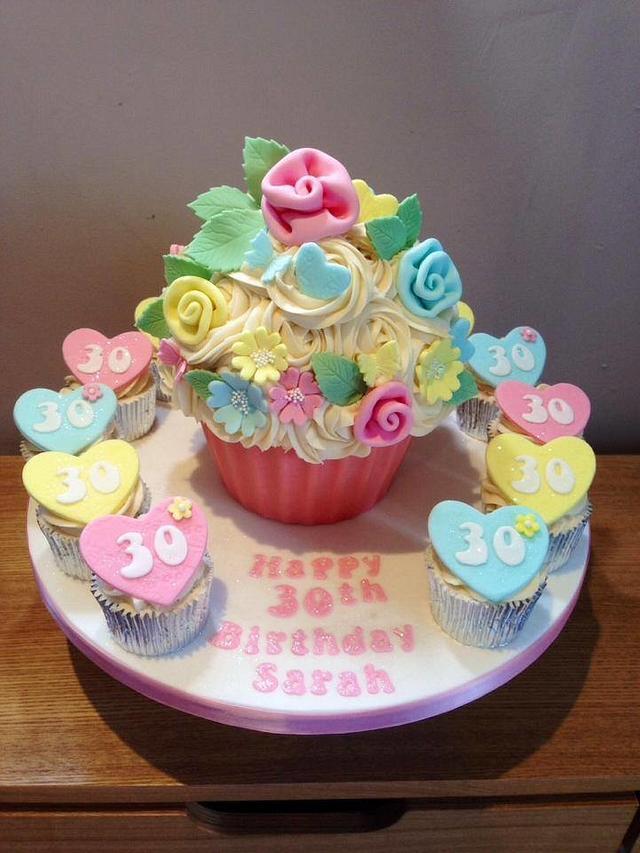 Tremendous Giant Cupcake For 30Th Birthday Cake By Cupcake Heaven Cakesdecor Funny Birthday Cards Online Necthendildamsfinfo