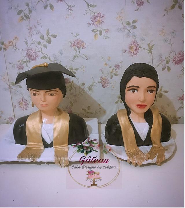 Graduation bust cake