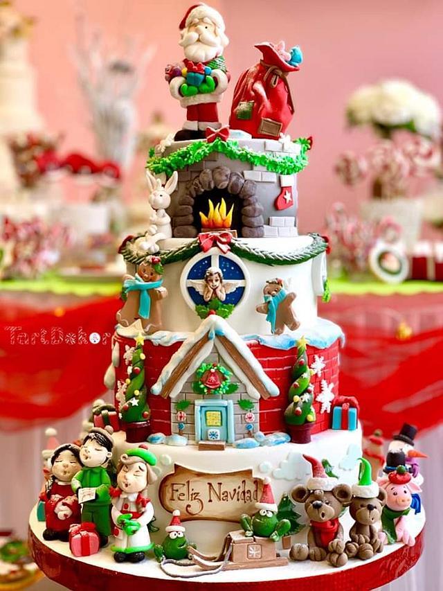 Cake Christmas with Tartdekor and Crin.sugarart