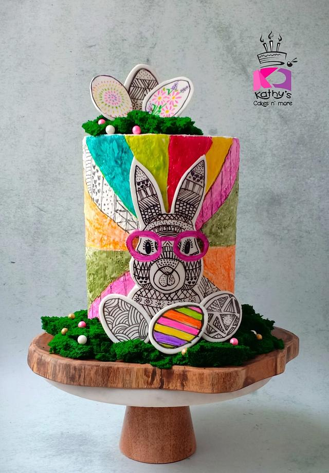 Doodled Easter Bunny