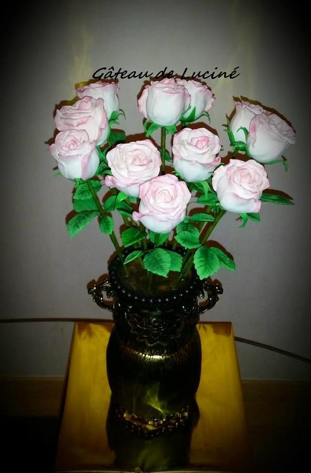 Flower vase 3D chocolat cake