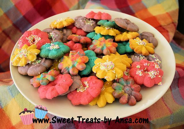 Easter Butter Spritz cookies